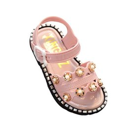 $enCountryForm.capitalKeyWord UK - Summer Kids Sandals Cute Flower Pearl Design Sandal Girl Open Toe Princess Shoes Children Casual Sandals