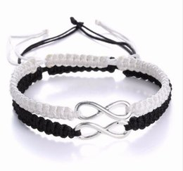 $enCountryForm.capitalKeyWord NZ - Lucky Infinity Handmade Bracelet Set Friendship Bracelet Set Infinity Love Couples Bracelet Set Infinity Jewelry