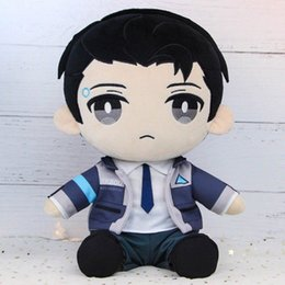 Sexy Toys Cosplay Australia - Costumes Accessories Costume Props In Stock Detroit Become Human RK800 Connor Plush Toy Anime Stuffed Pillow Doll Cosplay Prop Gift New