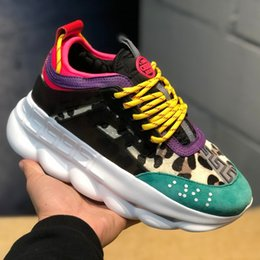 $enCountryForm.capitalKeyWord Australia - Cheap new chain reaction casual luxury designer sneakers fashion casual shoes men and women link embossed shoes 36-45