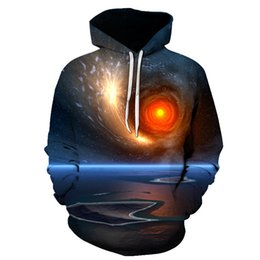 $enCountryForm.capitalKeyWord Australia - Hot Fashion Men Women 3D Sweatshirts Print Flashing Starry Sky Galaxy Hooded Hoodies Unisex Pullover Tops Wholesale and Retail
