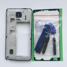 $enCountryForm.capitalKeyWord Australia - Soopom Middle Frame Plate Bezel Housing Case For Samsung Galaxy Note 4 N910F  G H A U T Replacement Parts free tools +