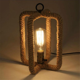 $enCountryForm.capitalKeyWord Australia - Vintage Rope Loft Table Lamp Creative Industrial Desk Lamp Edison for Living Room Decoration Bedroom Home Lighting Art Decor