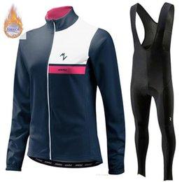 $enCountryForm.capitalKeyWord Australia - 2019 Winter Thermal Fleece Cycling Clothes Morvelo women Jersey Suit Outdoor Riding Bike MTB Clothing Bib Pants Set