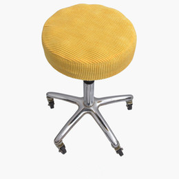 swivel bar chairs Australia - 1pc Bar Stool Covers Round Swivel Chair Case Seat Cover Cushions Sleeve Protector Solid Chair Cover QLY9493