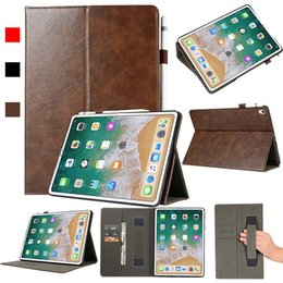 Asus Tablet Stands Australia - High Quality Imitation Leather Tablet Case Cover For ipad 11 ipad 2 3 4 With Folding Stand Dormancy protective shell