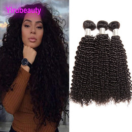 Afro Hair Extensions Bundles Australia - Indian Afro Kinky Curly Human Hair Bundles 3 Pieces set Indian Virgin Hair Extensions Wefts 8-28 Inch Yiruhair tissage 3 Bundles