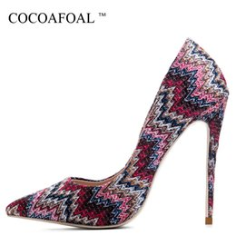 $enCountryForm.capitalKeyWord Australia - Cocoafoal Woman Blue High Heels Shoes Red Pink Stiletto Plus Size 33 43 44 Wedding Sexy Pumps Mesh Shallow Party Valentine Shoes