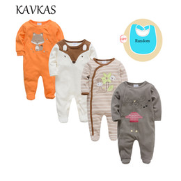 $enCountryForm.capitalKeyWord NZ - Kavkas 4 Pcs lot Baby Clothes Long Sleeve O-neck Cottn Baby Rompers Christmas Wear Roupa De Bebes Newborn Girls Boys Clothing Y19050602