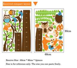 $enCountryForm.capitalKeyWord Australia - Cartoon Animals Squirrel Height Scale Tree Height Measure Wall Sticker For Kids Rooms Growth Chart Nursery Room Decor Wall Art