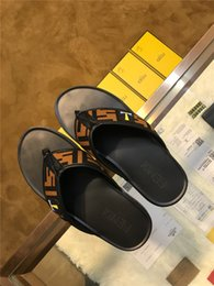 Men Patent Leather Sandal Australia - High Quality Luxury Fashion Designer Men Summer Rubber Real Leather Sandals Beach Slide Brand Scuffs Slippers Indoor Shoes Size EUR 38-45