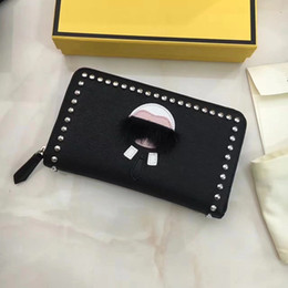 Wholesale magazine quality for sale - Group buy 2020 high quality little Monster men s magazine article cow leather wallet Lafayette zipper wallet clutch leather wallet women fashion walle