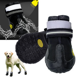 shoes for female dogs NZ - Reflective Dog Shoes Socks Winter Dog Boots Footwear Rain Wear Non-Slip Anti Skid Pet Shoes for Medium Large Dogs Pitbull