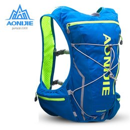 Discount water backpack for cycling - AONIJIE 10L Outdoor Sport Running Backpack Marathon Trail Running Hydration Vest Pack for 2L Water Bag Cycling Hiking Ba