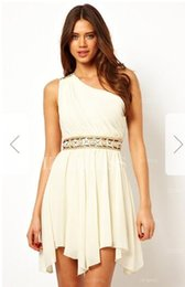 Fiber One Australia - A-Line Princess One Shoulder Short Mini Chiffon Prom DressW45