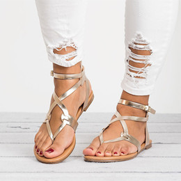 1d5735dd6c0fc plus size women red sandals 43 2019 - Summer 2018 Roma Flat Shoes Woman  Sandals Gladiator