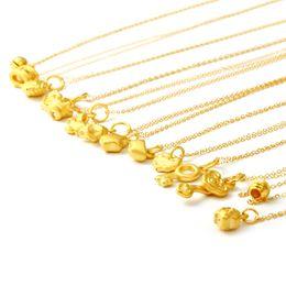 $enCountryForm.capitalKeyWord Australia - Full gold 999 gold pendant with 18K necklace 5 sets starting price optional style optional letter jewelry custom