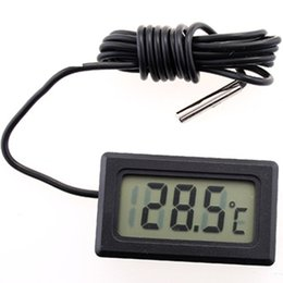 Digital Thermometer Meter Australia - Digital LCD Probe Fridge Freezer Indoor Thermometer Sensor Humidity Meter Thermograph For Refrigerator -50~ 70 Degree Black Color