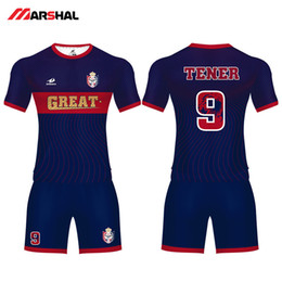custom soccer team uniforms NZ - Personalized custom team soccer uniforms with numbers design authentic football kits C18122701