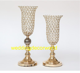 Glasses Decorations Australia - New style Wedding Metal glass crystal Gold Flower Vase Column Stand for Wedding Centerpiece Decoration decor0930