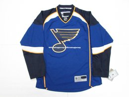 40755241002 Cheap custom ST. LOUIS BLUES HOMEPREMIER 7185 HOCKEY JERSEY stitch add any  number any name Mens Hockey Jersey GOALIE CUT 5XL