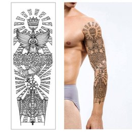 neck tattoos for women 2020 - Temporary Tattoo Sticker Cool Tribal Totem Fake Tatto Flash Tatoo Tatouage Stickers Hand Arm Leg for Girl Women Men chea