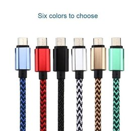 Galaxy S5 Charging Cable Wholesale Australia - 3FT 6FT 10FT Braided Micro USB   Type C Charging Sync Android Cable for Samsung Galaxy S3 S4 S5 S6 S7 S8 Note 5 Note8   Huawei Htc S