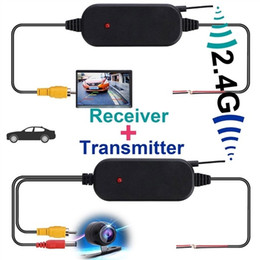 wireless rear view camera monitor Australia - 2.4 Ghz Wireless Rear View Camera RCA Video Transmitter and Receiver Kit for Car Rearview Monitor FM Transmitter & Receiver