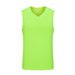 $enCountryForm.capitalKeyWord NZ - Hot Football quick-drying jersey running soccer training suit Sport sleeveless t shirt Solid Color tight vest polyester workout clothes 06