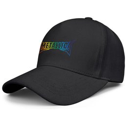 $enCountryForm.capitalKeyWord Australia - Mens womens adjustable snapback Cool Hat Metallica King of metal Gay pride rainbow Flat-Brim Baseball Cap Sandwich Cap