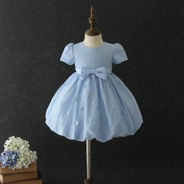 pageant dresses new styles kids 2019 - 2019 new Summer girls dress bowknot Girl Princess Dresses kids Pageant Dresses Fashion girls dresses kids designer cloth