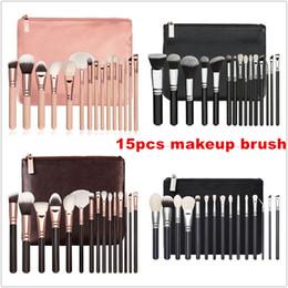 Best makeup Brushes kit online shopping - Brand Best quality Set Brush With PU Bag Makeup Professional Brush For Powder Foundation Blush Eyeshadow Eyeliner Blending Pencil