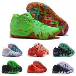 european basketball shoes 2021 - 2020 Kyrie IV Green Lucky Charms shoes hot sales Top Quality Irving 4 Cereal Basketball shoes free shipping US7-US12 che