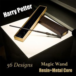 $enCountryForm.capitalKeyWord NZ - Harry Potter Cosplay Toys 56 Designs Harry Potter Metal Core Magic Wand With Gift Box Kids Toys Christmas Gift For Children