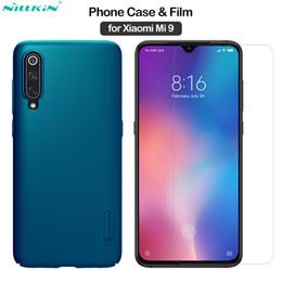 $enCountryForm.capitalKeyWord Australia - wholesale for Xiaomi Mi 9 Cover Frosted Shield Case + Amazing H Tempered Glass for Xiaomi Mi 9 Case Film Mi9 6.39''