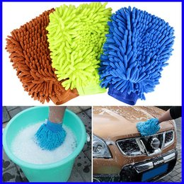 Chenille Towels Wholesale Australia - Car Auto Detailing Towel Chenille Anthozoan Wash Gloves Brushes Microfiber Car Motorcycle Washer Car Care Cleaning Brushes Promotio
