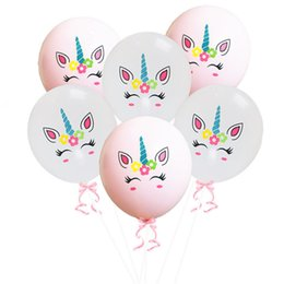$enCountryForm.capitalKeyWord Australia - 12'' Unicorn Balloons inflatable Latex Ballons party Decoration novel Palloncini Wedding Xmas baby shower birthday Christmas Halloween Gift