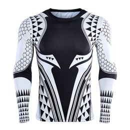 Men's Clothing 2019 Newest Aquaman Compression Shirt Man 3d Printed T Shirts Comics Cosplay Costume Short Sleeve Tops For Male Fitness Cloth Superior Performance