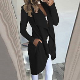 $enCountryForm.capitalKeyWord Australia - Office Ladies Coat Autumn Winter Casual Loose Lapel Jacket Slim Fit Pocket Solid Color Casual Simple Women Coats
