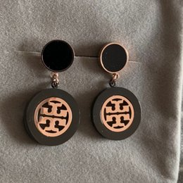 Rose gold afRican jewelRy set online shopping - High quality Simple Round women female Rose Gold color black wedding earrings for women Lover s fashion Jewelry Gift