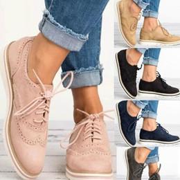 $enCountryForm.capitalKeyWord Australia - Hot Sale-Women Flats Lace-up Casual Shoes Brogue Shoes Woman Platform Oxfords British Creepers Cut-outs Flat Ladies Big Size 35-43