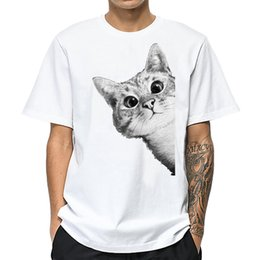 Kitten Shirts Australia - good quality Kitten T Shirt Men Cotton High Quality Fashion T-shirt Men Short Sleeve White Brand Summer Top Casual Cat Print Tshirts