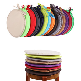 gardening chairs UK - Round Brief Solid Seat Pad Dia 38cm Indoor Dining Garden Patio Home Office Kitchen Round Chair Seat Pad Cushion With Four Ties DBC VT0233