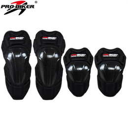 $enCountryForm.capitalKeyWord Australia - 2018 New PRO-BIKER Carbon fiber motorcycle protective gear Kneecaps Racing SUV knee pads elbow Rumble Knight equipment FREE SIZE