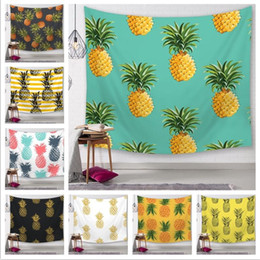 $enCountryForm.capitalKeyWord Australia - 25 Styles Pineapple Series Wall Tapestries Digital Printed Beach Towels Home Decor Tablecloth Outdoor Pads Kids Mats CCA11587 20pcs