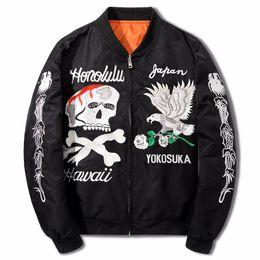 $enCountryForm.capitalKeyWord Australia - Kanye West Jacket Mens Ma1 Bomber Jacket Clothing Hip Hop Embroidery Coat High Quality Fashion Autumn Jackets Eagle And Skull