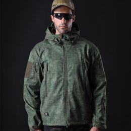 $enCountryForm.capitalKeyWord Australia - Plus Size XS-5XL Men's Tactical Soft Shell Jackets Waterproof Shark Skin Combat Outdoor Hunting Clothes Camping Climbing Coat