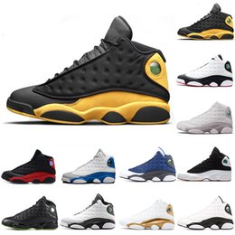 Blue Sky Game Australia - 13 13s Mens Basketball Shoes Melo Class of 2002 Hyper Royal Italy Blue Bred Black Cat History of Flight He Got Game XIII Men Sneakers 40-47