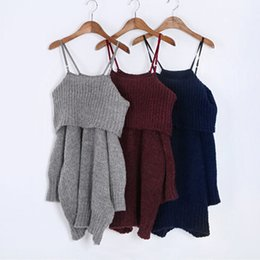 98ec5492f1 Winter Off Shoulder Sweater Women Loose Sexy Strapless Pullover Knitted  Maxi Dress Womens Sweaters Pull Autumn Pullovers C2694 C18121701