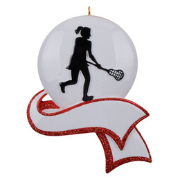 $enCountryForm.capitalKeyWord NZ - Free Customization-Personalized Women's Lacrosse Ornament for Christmas Tree Decor Gifts for Team Player Athlete, Sports Amateur